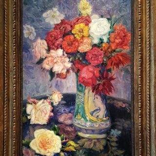 <em>Fernando de Amárica: Jarrón con flores</em><br>Oil on canvas - 60 x 40 cm. - Signed and dated 1923